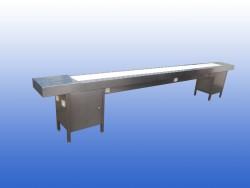 RVS transportband lees tafel inpaklijn