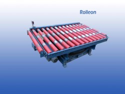 euro- en blokpallet draaistation voor rollerbanen